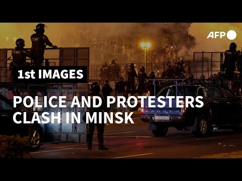 Police, protesters clash in Belarus capital after vote | AFP