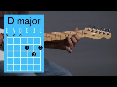 How to Play a D Major Open Chord   Guitar Lessons