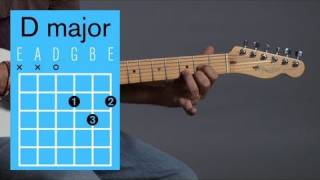 How to Play a D Major Open Chord | Guitar Lessons