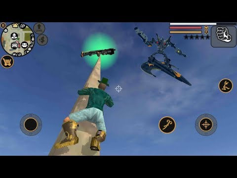 ► Vegas Crime Simulator | Transformer Robot Destroy helicopter Tank Army Camp Drive Under The Sea