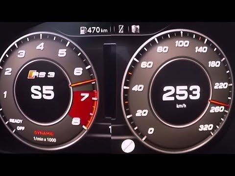 2017 Audi RS 3 Limousine 2.5 TFSI quattro S tronic - 0-100 km/h kph  Tachovideo Beschleunigung