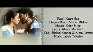 KAISE HUA Full Song With Lyrics Vishal Mishra   - YouTube