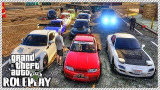 GTA 5 ROLEPLAY - 'HUGE' Tuner/Ricer Car Meet | Ep. 456 Civ
