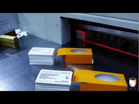 Процесс изготовление визиток