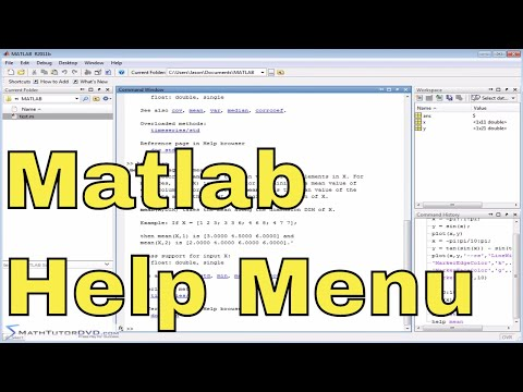 Matlab Online Tutorial - 04 - Using the Help Menus
