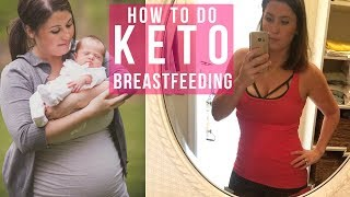 Breastfeeding & Low Carb / Keto Diet - Intermittent Fasting to Lose Baby Weight | Ashley Salvatori