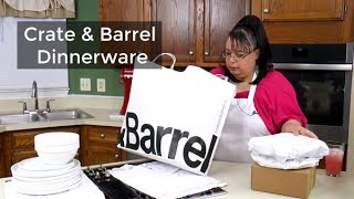 New Everyday Dinnerware | Crate And Barrel Logan Stackable Dishes | Whats Up Wednesday!