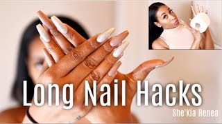 Long Nails.. How I wipe my A$$ + Other Hacks (Contacts, Makeup, Typing & More)