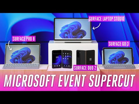Microsoft Surface 2021 event: Pro 8, Duo 2, Laptop Studio, and more