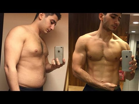 8 Months Body Transformation Fat to Ripped   Before & After