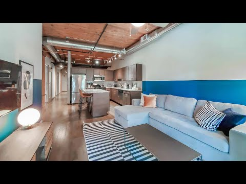 A furnished Streeterville 2-bedroom, 2-bath #3105 at The Lofts at River East