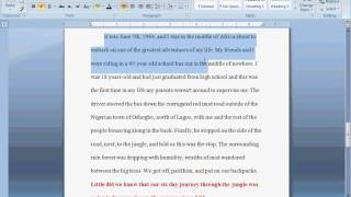 How To Write Intro/Thesis