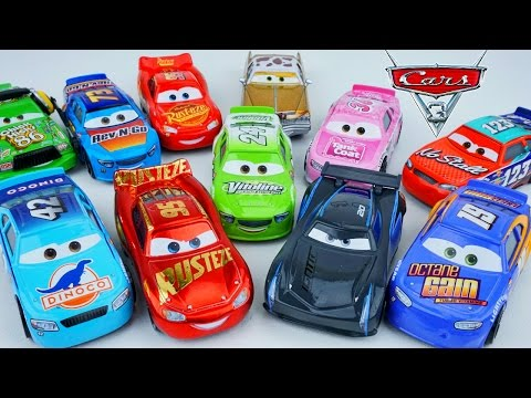 CARS 3 DESERT RACE 11 PACK NEW PISTON CUP RACERS JACKSON STORM NO STALL DINOCO RACING CENTER RUSTEZE