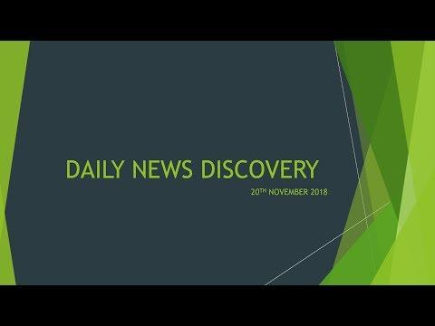 20 वीं NOVEMBER 2018- दैनिक समाचार प्रदर्शनी (DND)