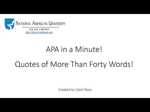 Quotes of More Than 40 Words