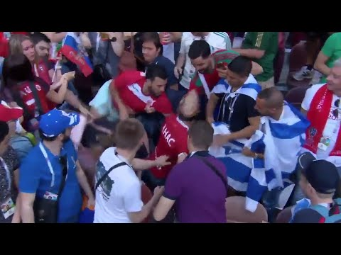 الجمهور المغربي يرفض رفع العلم الصهيونى فى مباراة المغرب والبرتغال