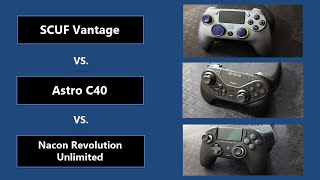 What is the Best PS4 Controller (Nacon Revolution Unlimited, Astro C40, SCUF Vantage)?