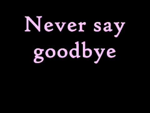 Bon Jovi - Never Say Goodbye (Lyrics)