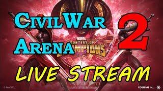 Civil War Arena - Round 2 - Part 2 | Marvel Contest of Champions Live Stream