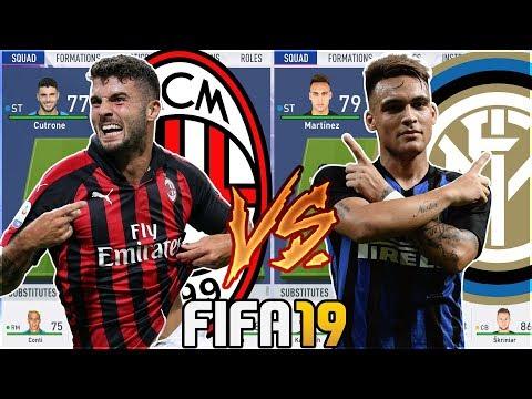 FUTURE AC MILAN TEAM VS FUTURE INTER MILAN TEAM- FIFA 19 Experiment
