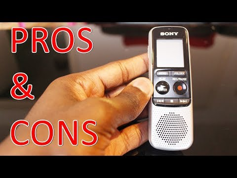 Sony ICD-BX140 Digital Mono PROS & CONS REVIEW HVXC/MP3 Voice Recorder With 4 GB Built-In Memory Mp3