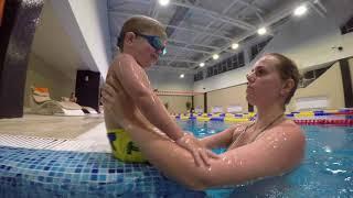 Тренировка с родителями в бассейне | Сhildren