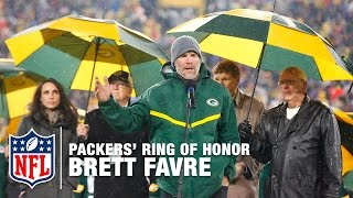 Brett Favre's #4 Unveiled in Packers' Ring of Honor   Full Ceremony