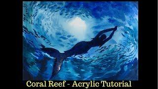 """Mermaid Silhouette - Easy Watercolor Painting Tutorial For """"Mermay 2019"""""""