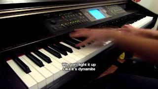 Dynamite - Taio Cruz (Piano Cover) with LYRICS!