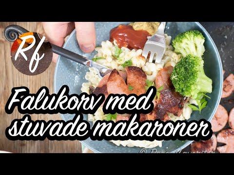 Stekt falukorv är en klassiker med stuvade makaroner. Gott till är även kokt broccoli, blomkål, morot, brysselkål med mera.>