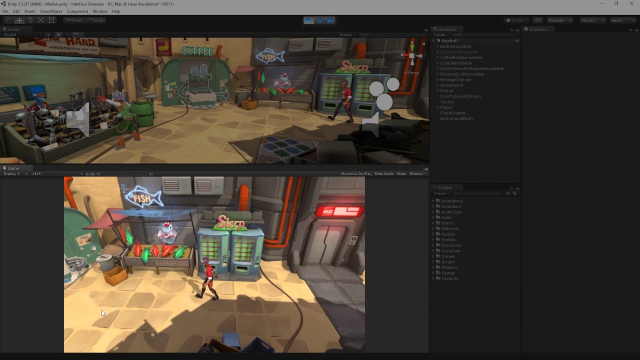 The Unity Interface Overview -  Unity Official Tutorials
