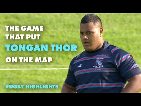 When Taniela Tupou put the rugby world on alert | Schoolboy Rugby Highlights | RugbyPass