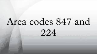 Area codes 847 and 224