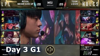 Royal Never Give Up vs Team Liquid | Day 3 LoL MSI 2018 Main Event Group Stage | RNG vs TL