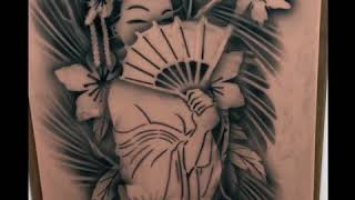 Tattoo Pro Stencils- BIG Ink: Geisha Airbrush Tattoo Design