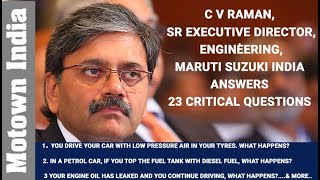 CV Raman of Maruti Suzuki answers 23 critical questions for car owners  | Motown India