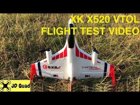 XK X520 VTOL Plane Flight Test Video - Courtesy of Banggood