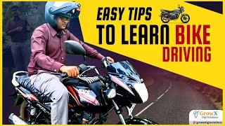 Easy tips to learn Bike driving Telugu Part1   Neelu arts