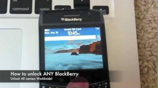 "How to Unlock Blackberry Phone - locate IMEI & enter Code / Remove ""Network MEP Code"" Instructions"