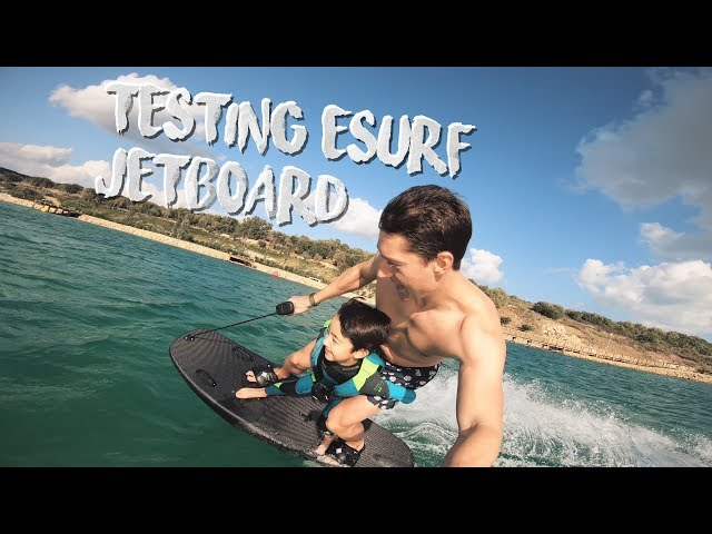 Esurf electric surfboard preview and tests - the jetboard of the future?