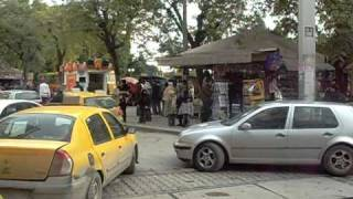 preview picture of video 'TRAFFIC JAM WITH TRAMS TAXIS PLACE DE BARCELONE TUNIS TUNISIA'