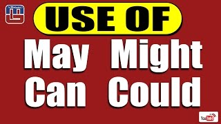 USE OF MAY, MIGHT, CAN & COULD SERIES | ENGLISH | ALL COMPETITIVE EXAMS
