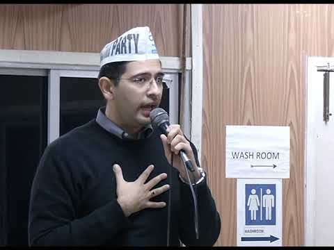 South Delhi LokSabha Prabhari Raghav Chadha Addresses at Lok Sabha Meeting for Upcoming Elections