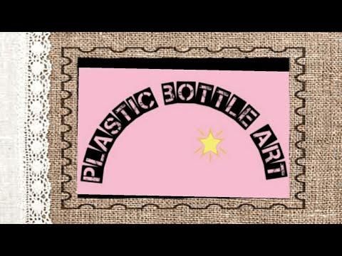 Plastic bottle art/Arecanut leaf/Best out of waste