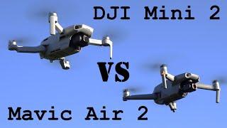 DJI Mini 2 vs. Mavic Air 2 - The Mini 2 is SO GOOD - Is the Air 2 worth the price?