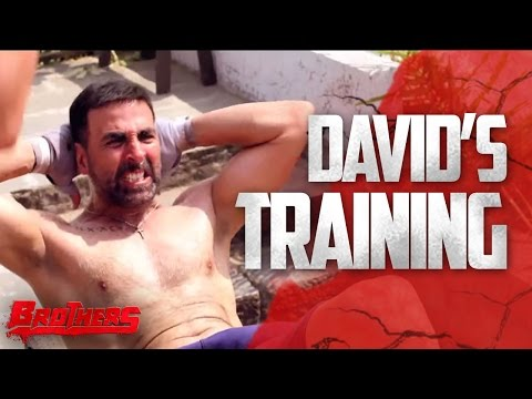 David s Training Brothers Behind The Scenes  Akshay Kumar