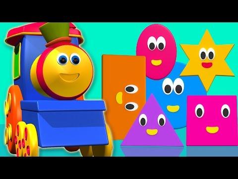 Bob der Zug | Form Lied für Kinder | lernen Formen mit bob Zug