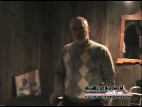 Customer testimonial from a basement waterproofing job in Franklin Lakes, NJ.