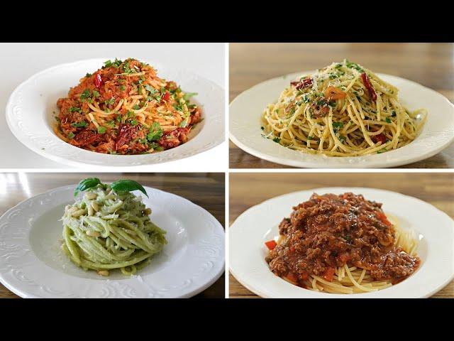 ארבעה מתכונים לספגטי