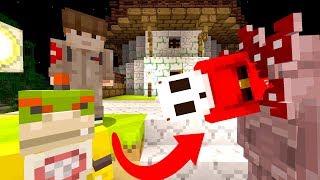 DEMOGORGON EATS PEOPLE! *KILL IT!*   Bowser Jr's Halloween   Minecraft [4]
